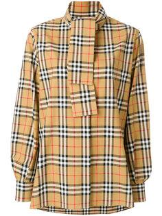 рубашка в клетку с платком Burberry
