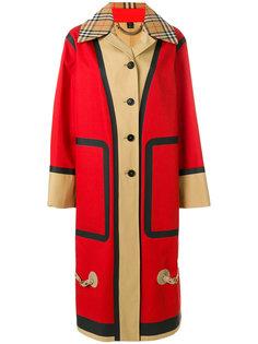 пальто Car в стиле оверсайз Burberry