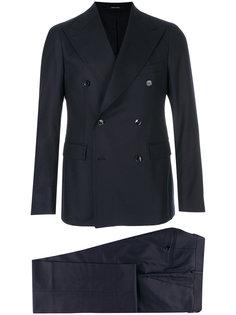 костюм-двойка с двубортным пиджаком Tagliatore