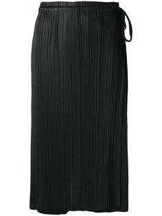 длинная плиссированная юбка-брюки Pleats Please By Issey Miyake