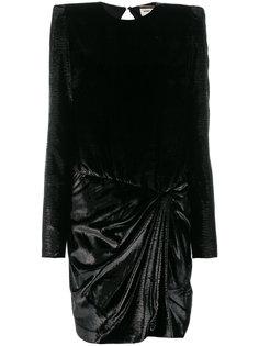 платье мини со структурированными плечами  Saint Laurent