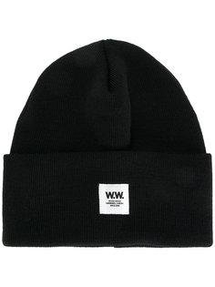 шапка с заплаткой с логотипом Wood Wood