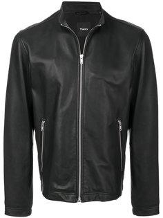 кожаная куртка на молнии Theory