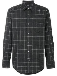 фланелевая рубашка с сетчатым принтом Theory
