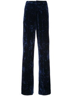 high-rise velvet trousers Ronny Kobo