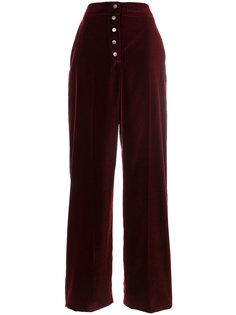бархатные широкие брюки Stella McCartney