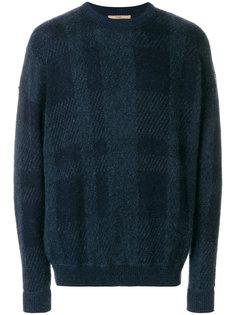 свитер с  круглым вырезом в клетку Nuur