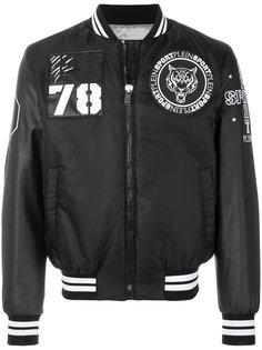 куртка-бомбер  с вышивкой Plein Sport