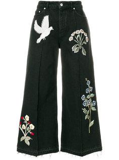 широкие джинсы с нашивками Alexander McQueen