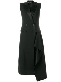 двубортное пальто без рукавов Alexander McQueen