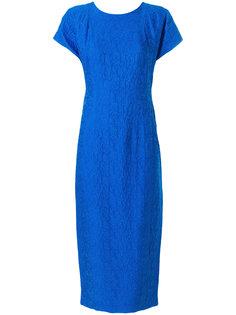 фактурное платье миди с вышивкой  Dvf Diane Von Furstenberg