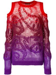 свитер с узором пейсли и эффектом градиент Roberto Cavalli