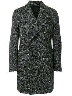 "двубортное пальто с узором ""шеврон"" Tagliatore"