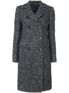 двубортное приталенное пальто Tagliatore