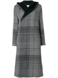 пальто в клетку с капюшоном Stephan Schneider