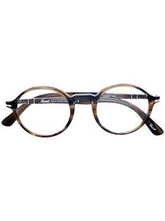 очки в круглой оправе с эффектом черепашьего панциря Persol