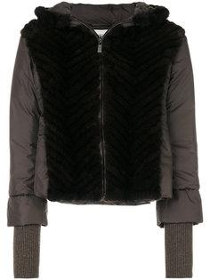 пальто-пуховик с норковым мехом Max & Moi