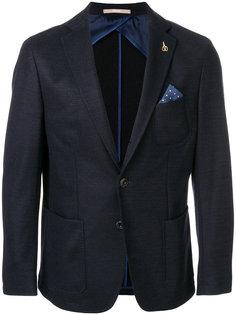 приталенный пиджак с нагрудным платком Paoloni