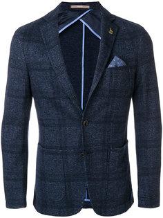 пиджак в клетку с нагрудным платком Paoloni