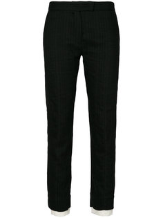 укороченные брюки с необработанными манжетами Ann Demeulemeester