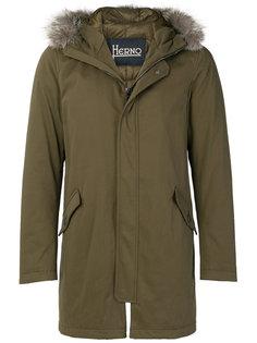 стеганое пальто средней длины Herno