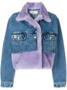 укороченная джинсовая куртка с панельным дизайном Natasha Zinko