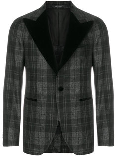 пиджак-смокинг в клетку Tagliatore