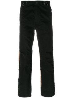 брюки с принтом тигровой шкуры Maharishi