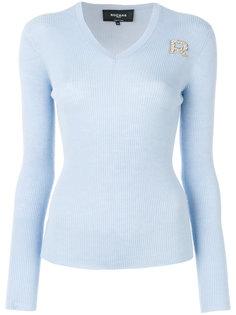 свитер с пайетками Rochas