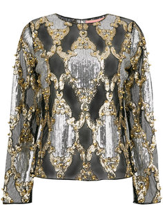 прозрачная блузка с пайетками Amuse