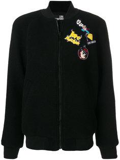 куртка бомбер с нашивкой Love Moschino