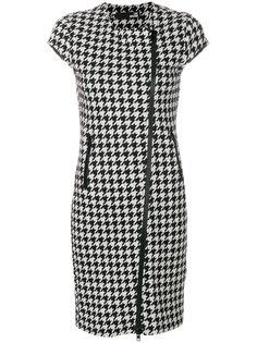 платье в ломаную клетку на молнии Love Moschino
