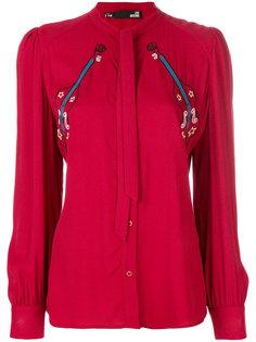 блузка с вышивкой Love Moschino
