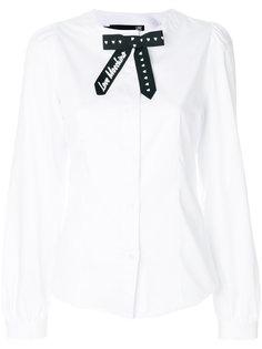 блузка без воротника Love Moschino