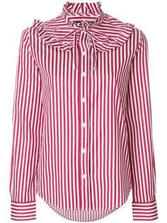 рубашка в полоску с оборчатым воротником Love Moschino