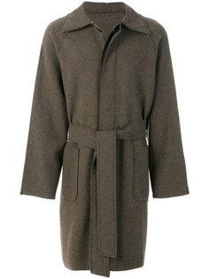 классическое пальто с поясом Ann Demeulemeester