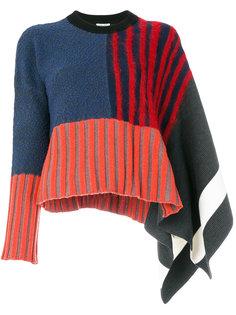 свитер в полоску с расклешенными рукавами Kenzo