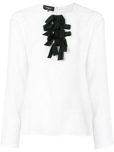 приталенная блузка с бантами Rochas