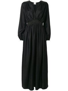 платье макси с присборенной талией  Forte Forte