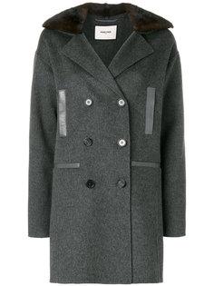 двубортное норковое пальто Max & Moi