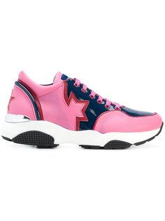 кроссовки на шнуровке дизайна колор-блок Frankie Morello
