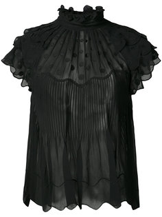 прозрачная блузка с горох Ulla Johnson