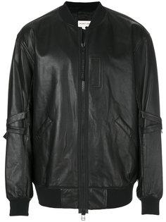 кожаная куртка-бомбер Helmut Lang