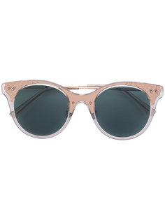 солнцезащитные очки в прозрачной оправе Bottega Veneta Eyewear