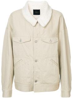 куртка с отделкой из меха Undercover