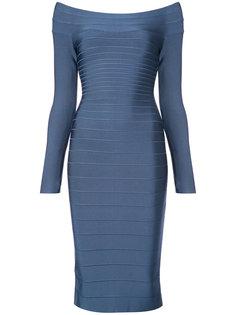 приталенное платье миди  Hervé Léger