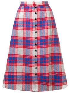 клетчатая юбка на пуговицах Novis