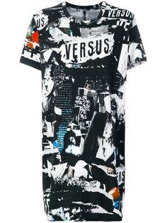 удлиненная футболка с принтом Versus
