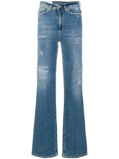 расклешенные джинсы с эффектом потертости Dondup