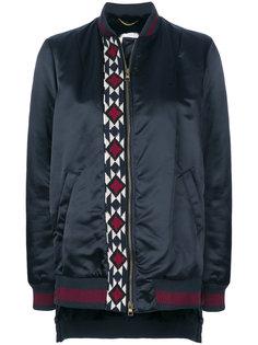 куртка бомбер с вышивкой и кроличьим мехом Bazar Deluxe